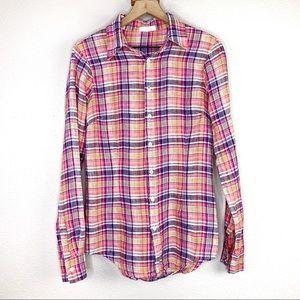 CP Shades | Linen Plaid Button Down Shirt sz S